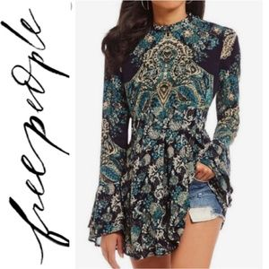 🚨NEW LIST Free People Lady Luck Printed Tunic Top